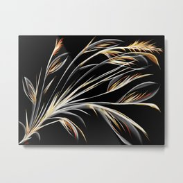 Bird of Paradise Floral Abstract Metal Print