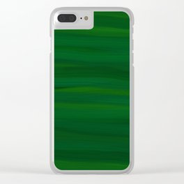 Emerald Green Stripes Abstract Clear iPhone Case
