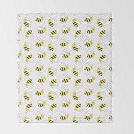 Bumble Bee Pattern Throw Blanket
