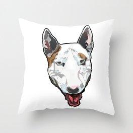 English Bull Terrier Portrait Throw Pillow