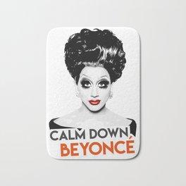 """""""Calm down Bey!"""" Bianca Del Rio, RuPaul's Drag Race Queen Bath Mat"""