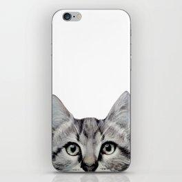 Cat, American Short hair, illustration original painting print iPhone Skin