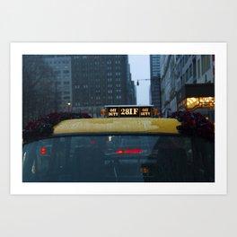 Lady G Roseland Taxi Art Print