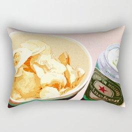 Potato chips and Heineken Rectangular Pillow