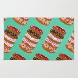 Stacked Donuts on Mint Rug