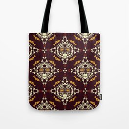 pattern with Tribal mask ethnic on dark Tote Bag