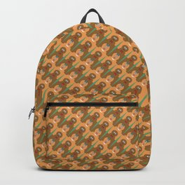 Kneading Gingerbread Cookie Houndstooth Pattern Backpack