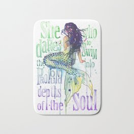 Mermaid : Profound Depths Bath Mat
