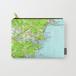 Vintage Map of York Maine (1956) Carry-All Pouch