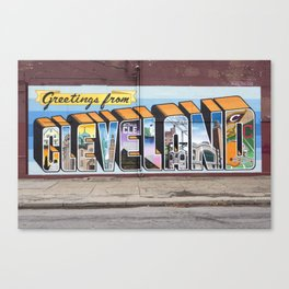 Greetings From Cleveland Canvas Print