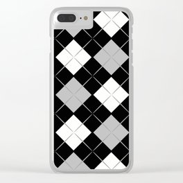 Checkered background Clear iPhone Case