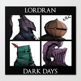 Lordran Dark Days Canvas Print