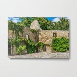 Old Castle Wall Ruin Metal Print