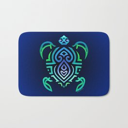 Tribal Turtle Ombre Background Bath Mat