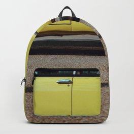 Retro yellow car Backpack