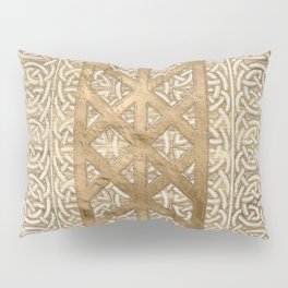 Web of Wyrd The Matrix of Fate - Vintage Gold Pillow Sham