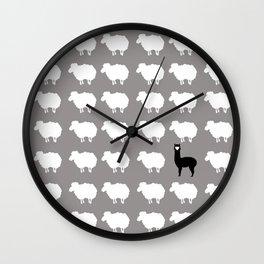 Don't be a sheep, Be a Llama Wall Clock