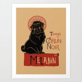 Le Carlin Noir (The Black Pug) Art Print