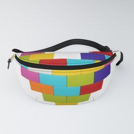 colorful heart Fanny Pack