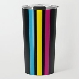 Stripes on Black Travel Mug