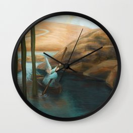 In his Boat Wall Clock