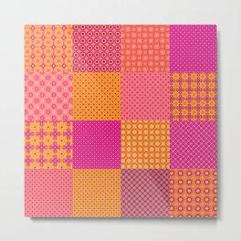 4x4 digital patchwork Metal Print