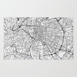Lyon Map White Rug