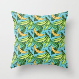 Plantain Paradise Pattern - For true plantain fans Throw Pillow