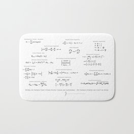 High-Math Inspiration 01 - Black Bath Mat