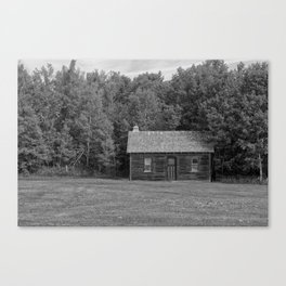 Little House Black and White Canvas Print