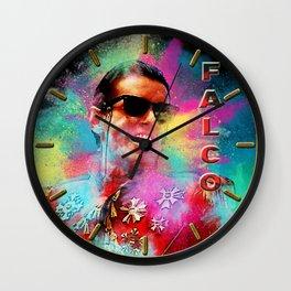Colorful Dust Falco Wall Clock