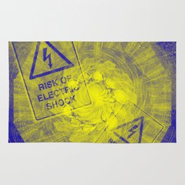Abstract risk of electric shock Rug