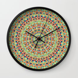 Twenty Four Hours Abstract Quasicrystal Wall Clock