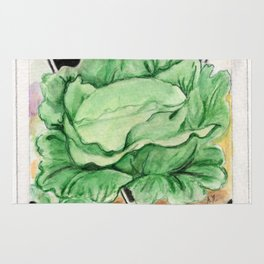 Cabbage Seed Packet Rug