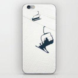 Chair lift shadow iPhone Skin