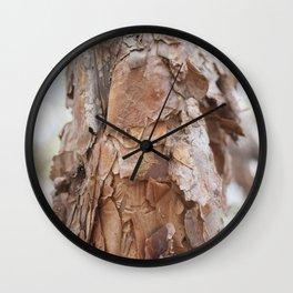 tree trunk in sacsayhuaman Wall Clock