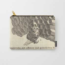 Antique Honeycomb Illustration Carry-All Pouch