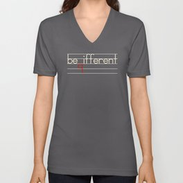 Be Different Typography Design Unisex V-Neck