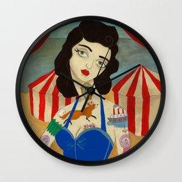 Tattooed Lady Wall Clock