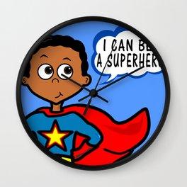 I Can Be A Superhero Wall Clock