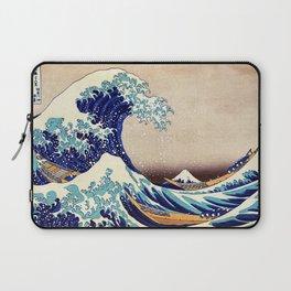 Katsushika Hokusai The Great Wave Off Kanagawa Laptop Sleeve