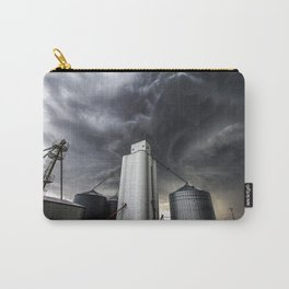 Skyscraper - Storm Over Grain Elevator in Kansas Town Carry-All Pouch