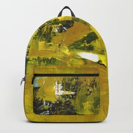 Waiter Yellow Abstract Modern Art Painting Backpack
