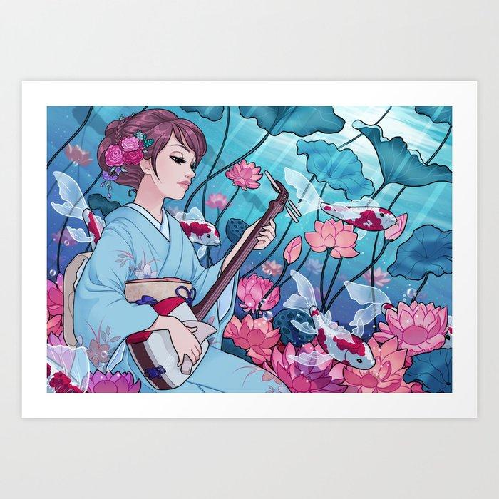 Song of the lake Art Print