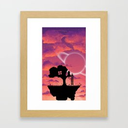 Space Tree House Island Framed Art Print
