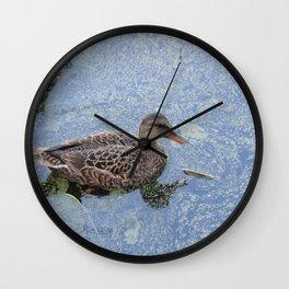 Duck at Nisqually Wall Clock