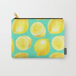 Watercolor lemons pattern Carry-All Pouch