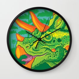 Triceratops (lime) Wall Clock