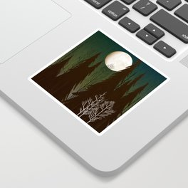 Into The Cold Winter Woods Sticker