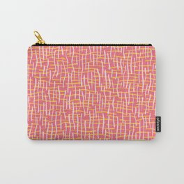 Pink Woven Burlap Texture Seamless Vector Pattern Carry-All Pouch
